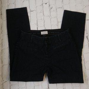 Anthropologie The Essential Slim Black Denim Jeans